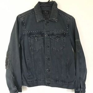 Lucky Brand 'Stay Reckless' Distressed Jean Jacket